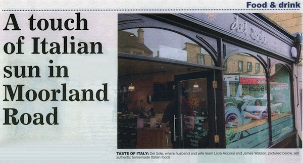 Interview in Bath Chronicle Food and Drink June 2006