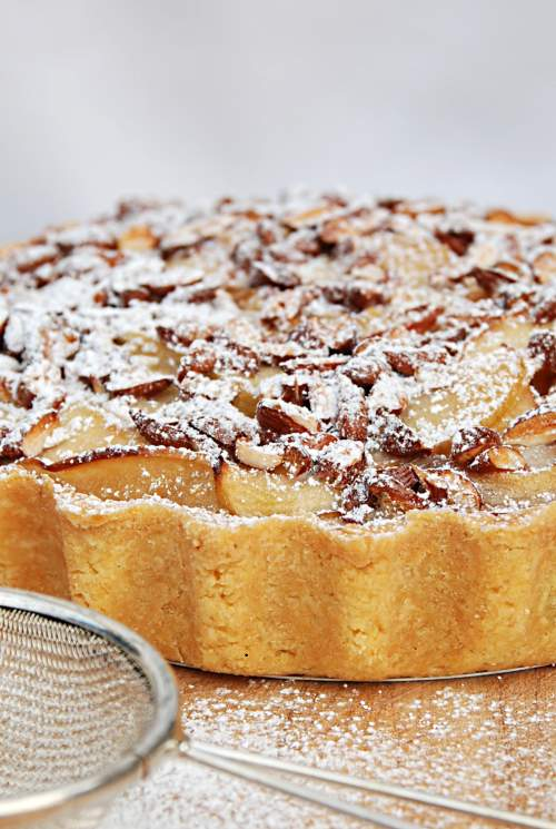 Apple Nougatine Tart