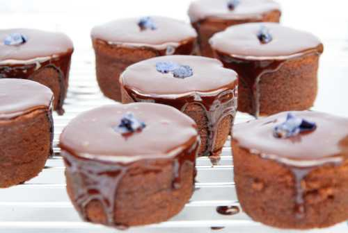 Mini Chocolate Ganache Cakes