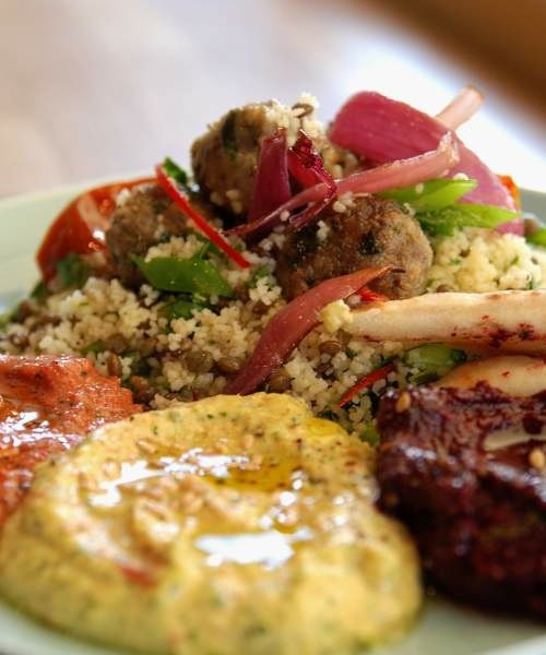 Aromatic Lamb Meatballs with Couscous Salad